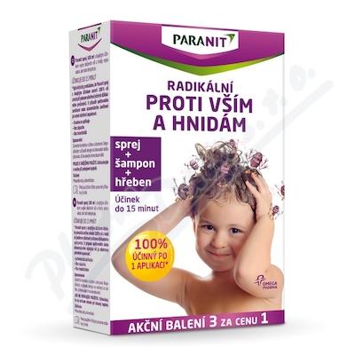 Paranit sprej 100ml+hřeben+šampon 100ml zdarma