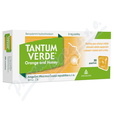 Tantum Verde Orange and Honey 3mg pas.20