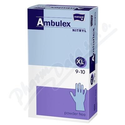 Ambulex Nitryl rukavice nitri.nepudrované XL 100ks