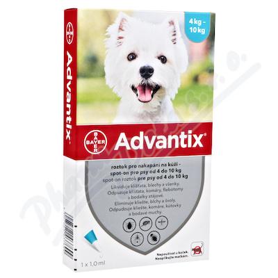 Advantix pro psy 4-10kg spot-on 4x1ml