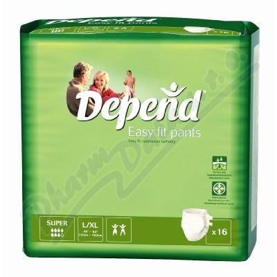 Depend Easy Fit Super inkont.kalh.vel.L/XL16ks