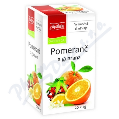 Apotheke Pomeranč a guarana čaj 20x2g