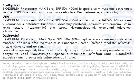BIODERMA Photoderm MAX sprej SPF50+ 400ml